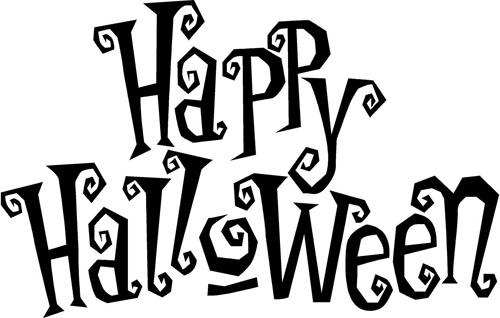 Halloween In Black And White Word Pictures to Pin on Pinterest